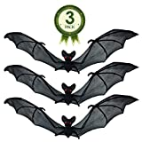 NorNovelties Bat Decorations & Wall Decor – Set Of 3 Hanging Bats For Halloween Party Decorations