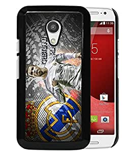 Fashionable And Unique Designed Cover Case With Cristiano Ronaldo (2) Black For Motorola Moto G 2nd Generation Phone Case