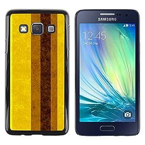 Paccase / SLIM PC / Aliminium Casa Carcasa Funda Case Cover - Earth Brown Yellow Lines Stripes - Samsung Galaxy A3 SM-A300
