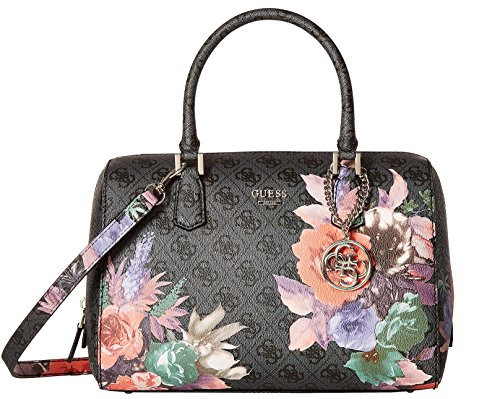 GUESS Linnea Rose Floral Box Satchel Handbag Tote Bag Purse (Coal) - Buy Online In UAE ...