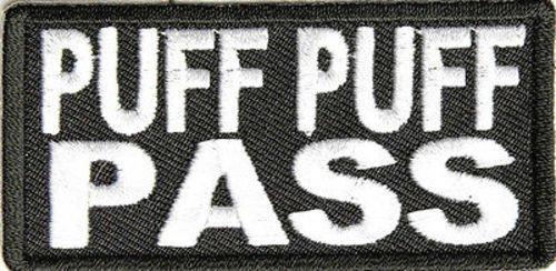 Puff Puff Pass POT Weed 420 Marijuana Funny MC Motorcycle Biker Patch PAT-2459 by heygidday   B0095SZSZU