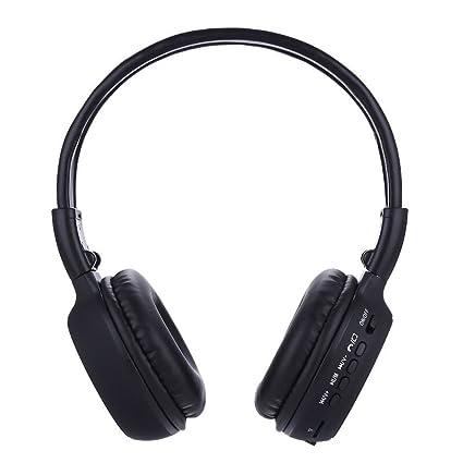 HHLUW Auriculares Bluetooth inalámbricos Luminosos Auriculares Auriculares Pantalla LCD AUX Auriculares Estéreo con Cable con FM