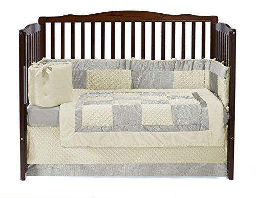 Baby Doll Bedding Croco Minky Crib Set, Ivory/Beige by BabyDoll Bedding   B00K85G3L2