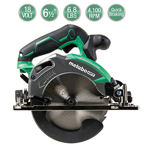 Metabo HPT Cordless Circular Saw | Tool Only | No Battery | 18V | 6-1/2″ Deep Cut Design | Brushless Motor | Lifetime Tool Warranty (C18DBALQ4)