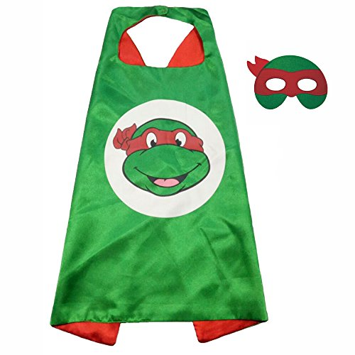 FASHION ALICE Superhero Superman CAPE & MASK SET,Halloween Costume Cloak for Child (Teenage Mutant Ninja Turtles,Red)