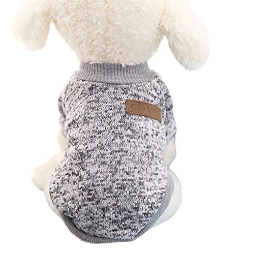 Pet Shirt,haoricu Hot Sale!8 Color Winter Warm Pet Puppy Sweater For Small Dogs Shirt Clothes (s, Gr Icon
