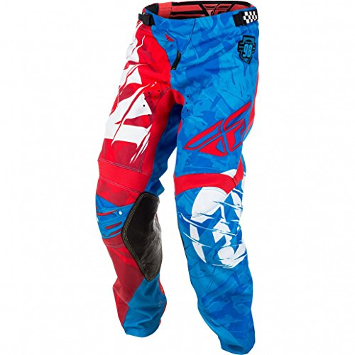 Fly Kinetic Mesh Pants (Fly Racing Men's Kinetic Outlaw Pants(Red/Blue, Size 22),1 Pack)