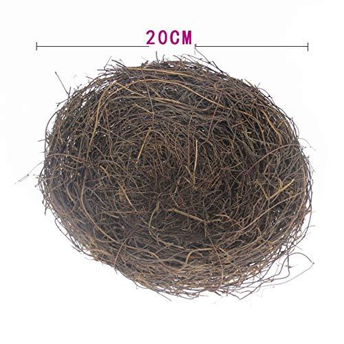 Wild Nest Bird - lwingflyer 1pcs Rattan Bird's Nest Crafts Handmade Dry Natural Bird's Nest for Garden Yard Home Party Wedding Decor No Eggs(Large)