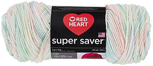 Red Heart Super Saver Yarn, Baby Print