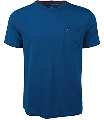5200dce44 Amazon.com: Tommy Hilfiger Mens Crew Neck Pocket T-shirt: Clothing