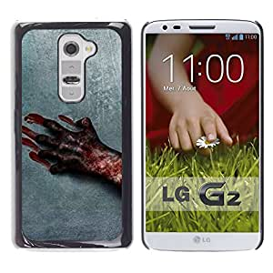 Paccase / SLIM PC / Aliminium Casa Carcasa Funda Case Cover para - Blood Hand Scary Halloween Grey Horrible - LG G2 D800 D802 D802TA D803 VS980 LS980
