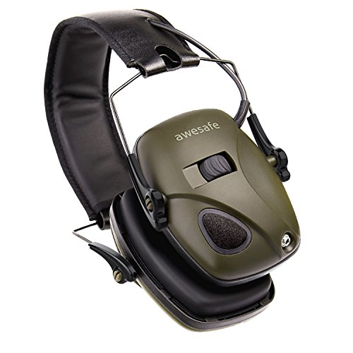 Electronic Shooting Earmuff, Awesafe GF01 Noise Reduction Sound Amplification Electronic Safety Ear Muffs, Ear Protection, NRR 22 dB, Ideal for Shooting and Hunting