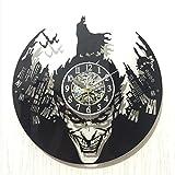 SHIQUNC Batman Horloge Murale Silencieuse Acrylique Pendules Murale