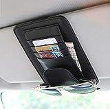 TRUE LINE Automotive Car Sun Visor Organizer Card Storage Sun Glass Credit Card Money Holder (Black)