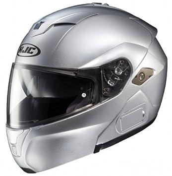 HJC SY-MAX III Modular Motocicleta – Casco para hombre Plata XXL 2 X L