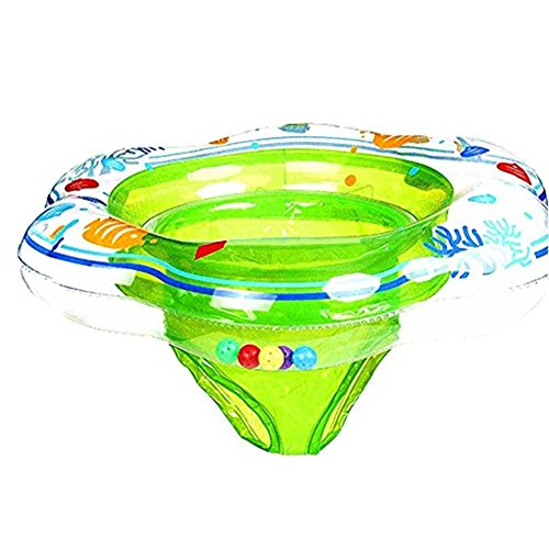 Baby Double Airbags Floating PVC Inflatable Baby Swim Float Seat Swimming Ring (01, Green)