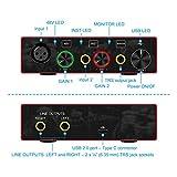 Audio Interface USB Audio Interface with Mic