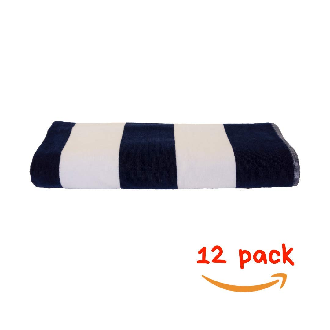 Solid Color Beach Towels.Amazon Com Mer S Cabana Stripe Solid Color Beach Towel