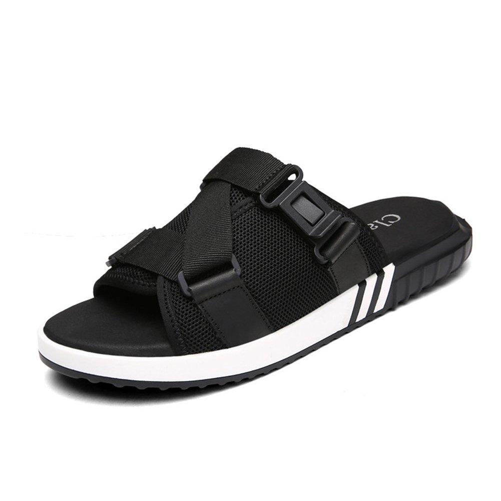 Männer Sportlich & Outdoor Sommer Freizeit Hausschuhe Licht Wanderschuhe Breathable Casual/Sandaleen / Hausschuhe (Farbe : Schwarz, Größe : 42)