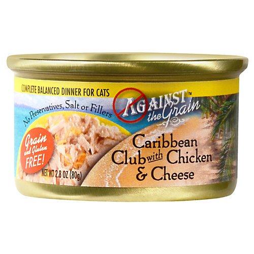 Against The Grain Caribbean Club Chicken Cheese Canned Cat Food 24/2.8 (Caribbean Club)