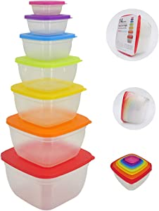 14 Pc Food Storage Variety Pack Container Meal Prep Freezer Microwave Reusable
