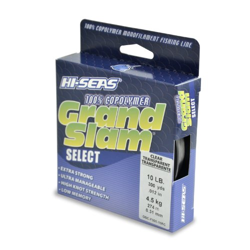 Hi-Seas Grand Slam Select 100-Percent Copolymer Line, Fluorescent Clear Blue, 10-Pound Test, 300-Yard, Outdoor Stuffs