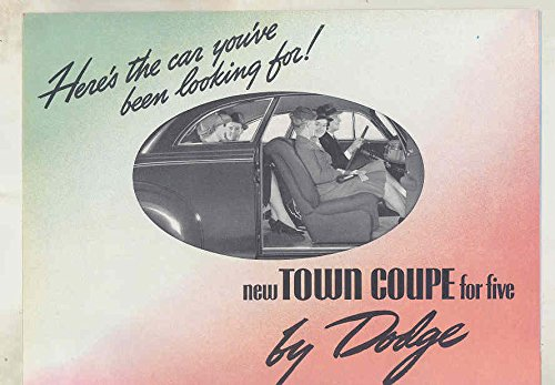 Amazon com: 1939 Dodge Hayes Town Coupe for Five Brochure