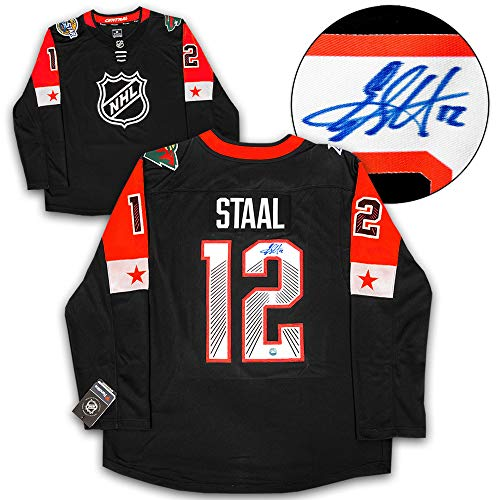 (AJ Sports World Eric Staal 2018 All Star Game Autographed Fanatics Hockey Jersey)