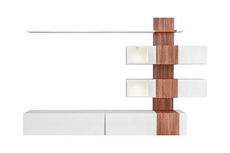 Mueble de salón Modelo Didac Color Blanco y Roble (2,5m ...