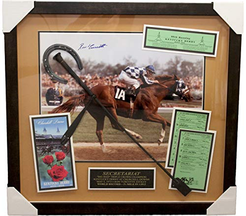 Ron Turcotte Kentucky Derby Autographed Signed Secretariat 16x20 Shadow Box - Certified Authentic