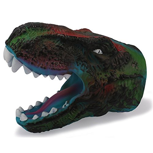 Me Costume Adopt Please (HOMEE Dinosaur Gloves Tyrannosaurus Rex Children Costume Rubber Puppet Soft Animal Head Figure For Kids -)