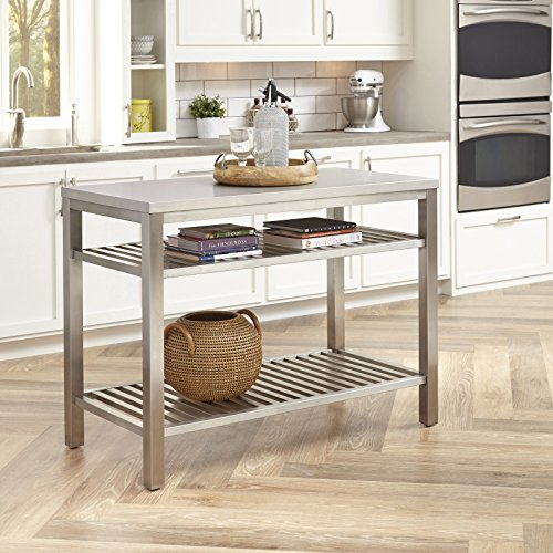 Pittsburgh Stainless Steel Kitchen Island by Home Styles