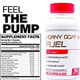 Horny Goat Weed Fuel - High Performance Booster for Men & Women- Increase Stamina, Strength, Performance - Energy, Mood, Endurance Boost - Maca, Tribulus & Ginseng Icarrin 90 Caps Manufactured USA