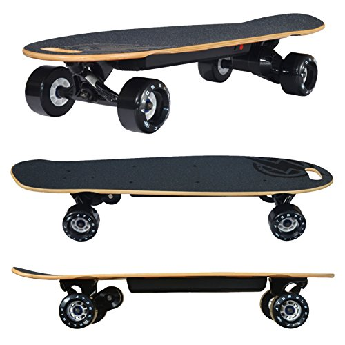 Atom Electric B10 Skateboard - 1000W Belt Drive - 90Wh Li-Ion Battery, Brown, 29.5
