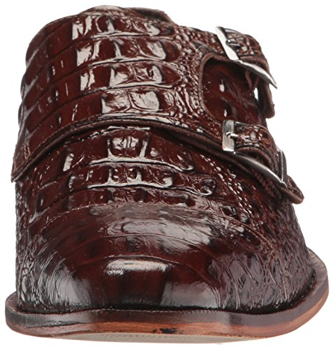 Stacy Adams Mens Golato Cap Toe Double Monk Strap Oxford Cognac