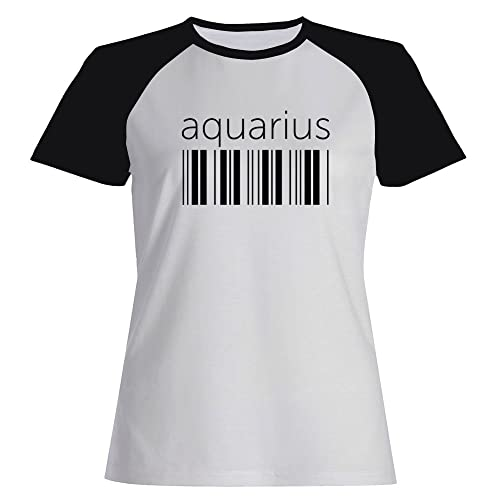 Idakoos Aquarius barcode - Zodiachi - Maglietta Raglan Donna