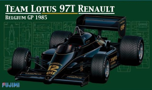 1/20 Scale Model - F1 Team Lotus 97T Renault Belgium GP 1985 Construction Kit