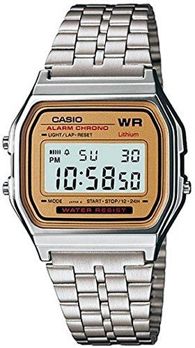 Casio A159W9D - Reloj Unisex metálico Oro/Plata: Casio: Amazon.es: Relojes
