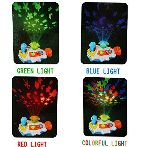 Wishtime Moon and Stars Submarine Projector Toy with Music and Lighting in the Dark Room Baby Sound Toy Christmas Gift ToyColor Delivery Random