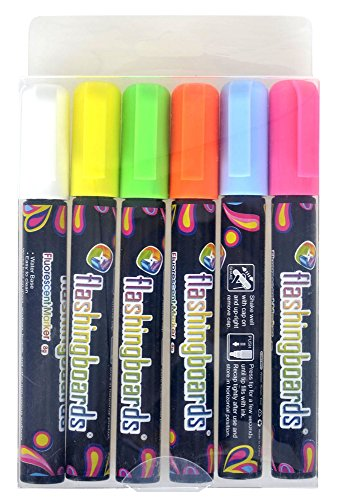 FlashingBoards Marker Pen Multicolor Set for LED Menu Boards, 6_Six color Photo #8