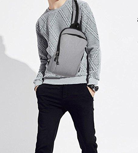 Hjfbw Leisure Usb Bag function Chest Men's Sports Multi Messenger Shoulder Charging Casual rwrqdE