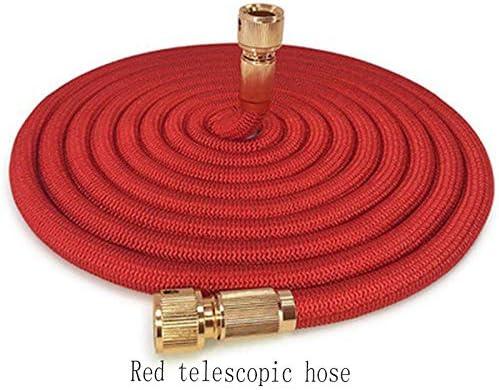 Suudada 3 Times Telescopic Hose Garden Watering Magic Hose Car Wash Hose-100Ft_Red