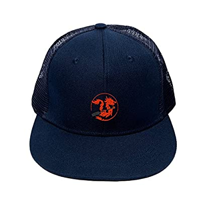 Adjustable Mesh Cap Classic Embroidered Dragon Boat Paddle Trucker Hats for Men
