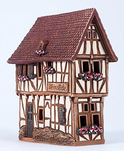 Ceramic house incense burner 'House in Bernkastel-Kues, Germany Midene R255 House Incense