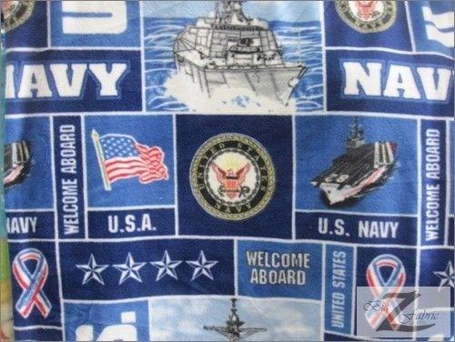 "US NAVY MILITARY PRINT POLAR FLEECE FABRIC 60"" WIDTH SOLD BY THE YARD 372"