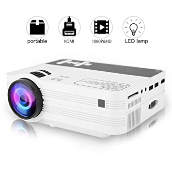 Bewinner 1920x1080 Full HD LED Proyector para Android 6.0 WiFi Bluetooth TV Video Beamer Soporte 2.4G WiFi Bluetooth 4.0 Soporte MPEG4,RMVB,H264MP2, ...