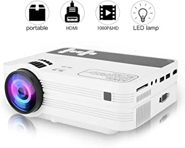 Bewinner 1920x1080 Full HD LED Proyector para Android 6.0 WiFi ...