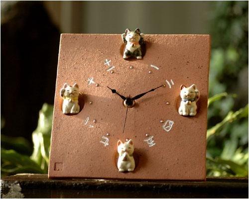 福々風水招き猫掛時計 B001T881VM