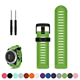 Garmin Fenix 3 / 3HR GPS Multisport Watch Replacement Watchband Strap, Feskio Accessory Soft Silicone Gel Wrist Strap Band Bracelet for Garmin Fenix 3 / HR GPS Multisport Watch