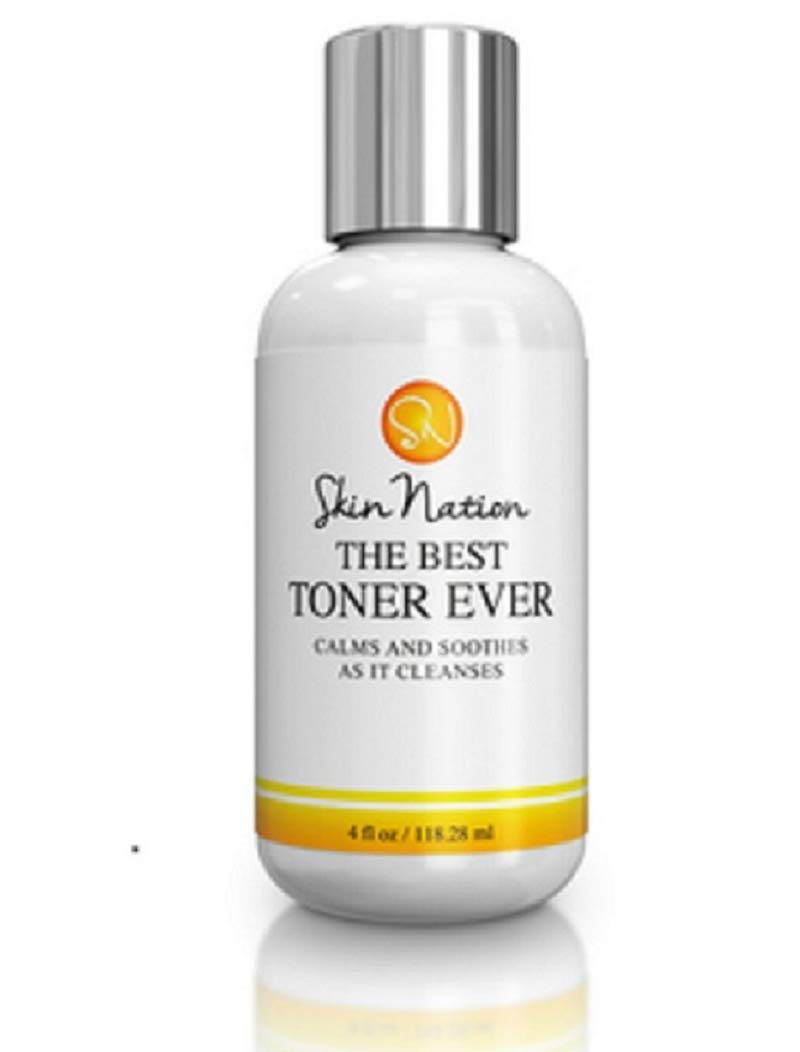 The Best Facial Toner Ever   with Organic Natural Ingredients - Rose Flower Water & Tea Tree Toner for Face - Anti Aging Aloe Vera, Pore Refining & Hydrating   Skin Nation by Michelle Stafford